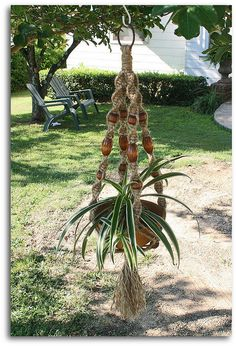 Tawny Macrame Plant Hanger by Macramaking- Natural Macrame Plant Hangers, via Flickr