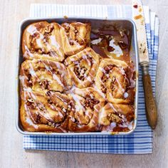 Pecan caramel cinnamon buns - perfect with a cup of tea. Click on the photo or visit www.redonline.co.uk for the recipe.