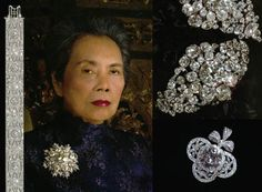 A few pieces of diamond jewelry belonging to Princess Bejaratana Rajasuda Sirisobhabannavadi (1925-2011) of Thailand. (I'd have a wide smile on my face if they belonged to me!)