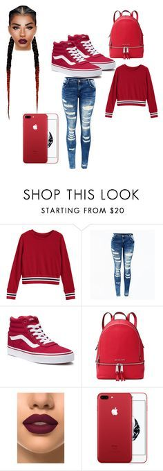 """""""red day"""" by mtailar on Polyvore featuring Vans, MICHAEL Michael Kors and French Kiss"""