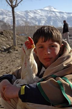 Start the day with gratitude and a smile... then it's easier to be happy all day. (Afghan boy)