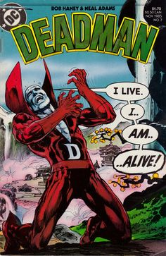Deadman No. 7 (DC Comics, 1985). Cover art by Neal Adams.