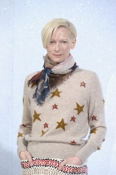 Tilda Swinton Photos: Front Row at the Chanel Runway Show