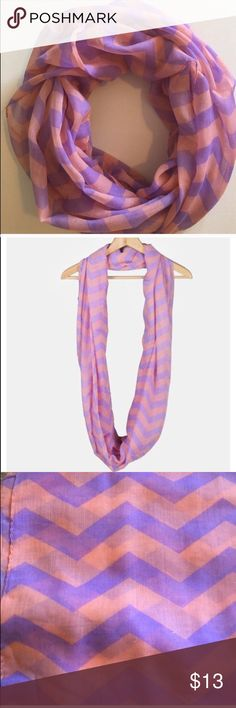 [ SUBMIT OFFER]Peach&Purple Chevron Infinity Scarf Adorable lightweight infinity scarf with chevron print. Lightweight enough to wear over a tank or tee in the warmer seasons or layered with a sweater or jacket during colder seasons!  • Offers Welcome • Bundle Discounts  • Suggested User • Fast Shipper Accessories Scarves & Wraps