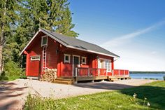 Finland Summer, Small Towns, Beautiful Landscapes, Outdoor Structures, Cabin, House Styles, Villas, Cottages, Home Decor