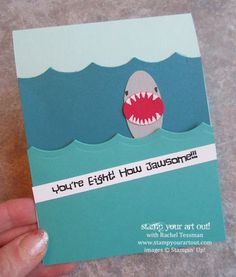 A few Shark Party creations using Stampin' Up! products… Stampin' Up!® #stampyourartout #stampinup - Stamp Your Art Out! www.stampyourartout.com
