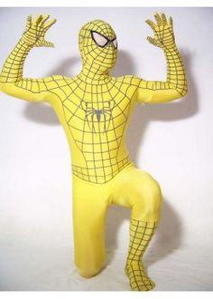 New Design Yellow Spiderman  Zentai Costume