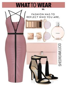 """OOTD"" by gigi-lucid ❤ liked on Polyvore featuring Topshop, Chanel, Alexander McQueen, Urban Decay and Le Specs"