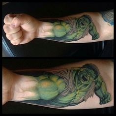 Amazing-Hulk-Tattoo-On-Forearm.jpg 600×600 pixels