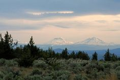 Sisters Three Landscape Print Mountains Oregon by DeMintGallery