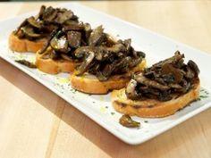 Bruschetta with Sauteed Mushrooms from CookingChannelTV.com
