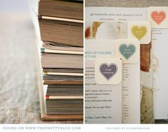Heart It Bookmarks {Free Printable} just add magnets. A set would make a sweet gift