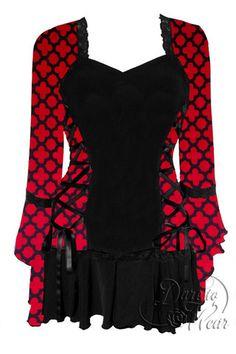 Dare To Wear Victorian Gothic Women's Plus Size Bolero Corset Top Red Queen