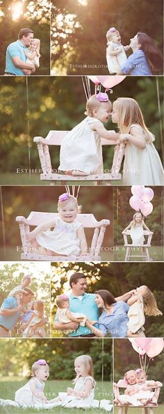 family photography, fun outdoor family session, sunset photography, baby photography, children photography, balloons