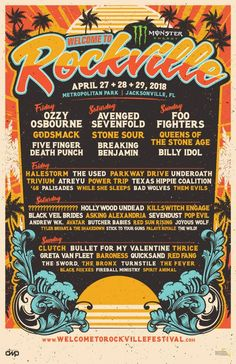 Welcome To Rockville Festival excellent poster!