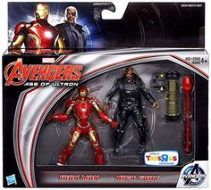Amazon.com: Marvel Avengers Age of Ultron Movie, Exclusive Iron Man and Nick Fury Action Figures, 3.75 Inches: Toys & Games