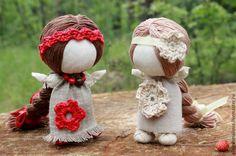 """Купить Кукла-оберег """"Долюшка - народные куклы, славянские куклы, куклы обереги, долюшка, на счастье"""