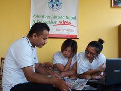 Volunteers Xinyi Shen & Qianwen Zhang in Nepal Kathmandu at the prudential program https://www.abroaderview.org