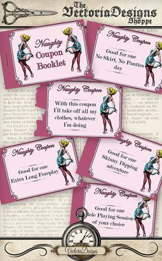 Printable Naughty Coupons last minute gift. So much fun!