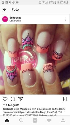 Uñas Beautiful Nail Art, Gorgeous Nails, Cute Nails, Pretty Nails, Summer Nails 2018, Nail Ring, Luxury Nails, French Tip Nails, Best Nail Art Designs