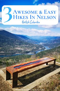 3 Awesome and Easy Hikes in Nelson BC Going to Nelson, British Columbia? Check out these 3 easy hikes, with BEAUTIFUL views! You don't have to be super fit to go hiking in Nelson, there's something for everyone! Hiking Guide, Go Hiking, Hiking Trails, Cool Places To Visit, Places To Go, British Columbia, Columbia Travel, Columbia Road, Visit Canada
