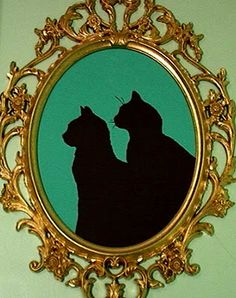 Create silhouettes with photoshop (from the kids, let's not get so far as doing it for the pets, shall we?)