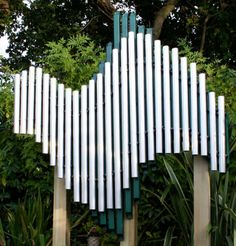 free-standing outdoor musical chime SWIRL Freenotes