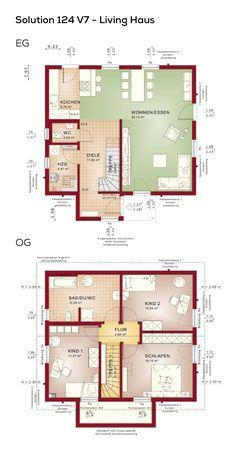 Grundriss Einfamilienhaus Modern Mit Satteldach   4 Zimmer, 125 Qm  Wohnfläche, Ohne Keller,
