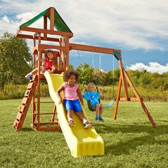 Shop a great selection of Play Set Scrambler Swing Set Swing-n-Slide. Find new offer and Similar products for Play Set Scrambler Swing Set Swing-n-Slide. Play Swing Set, Swing And Slide, Play Sets, Toddler Swing Set, Backyard Playset, Backyard Playground, Backyard Ideas, Playground Ideas, Natural Playground