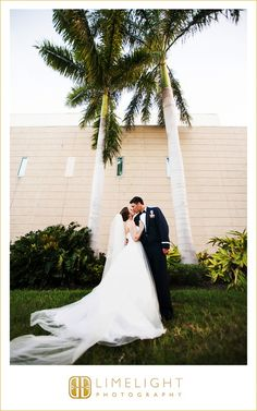 st. petersburg, florida, wedding, wedding photography, photography, museum of fine art st. petersburg, step into the limelight, limelight photography, groom, military, bride, portraits, husband, wife, mr and mrs, outdoors, palm tree
