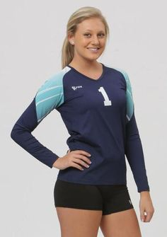 A semi-custom Volleyball Jersey That allows you to pick your body color and…