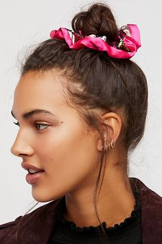 Slide View 1: Embroidered Scrunchie