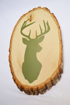 Deer+head+wood+slice++Rustic+nursery+decor++by+RusticBabyBoutique,+$30.00