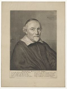 Portret van predikant Daniel Wittius (1583-1650), predikant te Gouda - Geheugen van Nederland