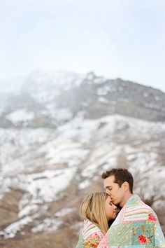 winter engagements... Maybe this is alternate to getting those mountain views.  Get them in your engagement pictures.