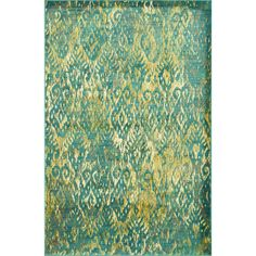 Skye Monet Lagoon Rug (7'7 x 10'5) | Overstock.com Shopping - Great Deals on Alexander Home 7x9 - 10x14 Rugs