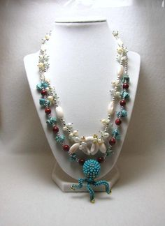 Awesome Octopus - Jewelry creation by Linda Foust