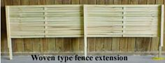Woven Lattice fence Extensions