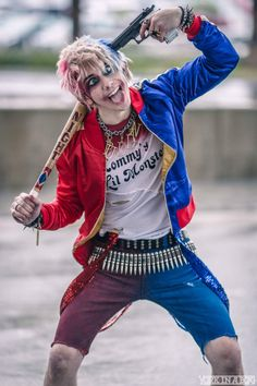Charley Quinn (male version of Harley Quinn) from Suicide Squad...