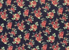 Floral Dot Rayon Challis Fashion Fabric Blue