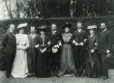 The Hessian Royal Family: Ernst Ludwig of Hesse, Alix of Hesse, Nicholas of Russia, Irene of Hesse, Heinrich of Hohenzollern, Elizabeth of Hesse, Sergei of Russia, Victoria of Hesse and Henry of Battenberg