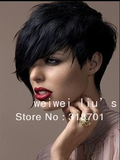 2013 New Black Short High Quality Synthetic Straight Sexy Wigs Free shipping $17.30