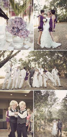 fall wedding: reverse the groomsmen with dark grey. I also love the centerpiece