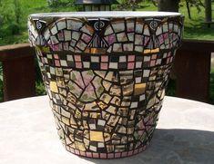 Mosaic Flower pot. Very neat |
