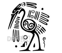 Hey, I found this really awesome Etsy listing at https://www.etsy.com/listing/159207794/ancient-mexican-stork-bird-motif