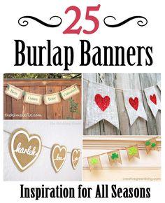 The Kim Six Fix: 25 Burlap Banners: Inspiration for all Seasons
