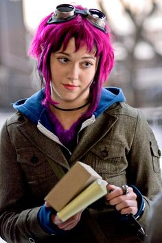This is the movie-version of the outfit she wore in the first book. It's one of my favorites. #RamonaFlowers #ScottPilgrim #movie