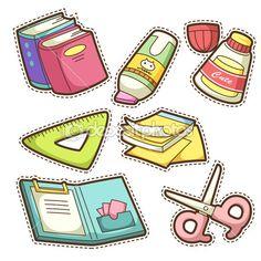 Школа набор. набор различных школьных предметов — Векторная картинка #29634113