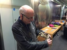 Paul Clark with his CAPTIVE mitten crab @NHM_London #su2015