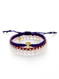 Tai Jewelry Set Of 3 Pink, Fuchsia, & White Bracelets